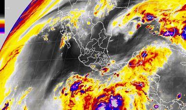 Tormentas muy fuertes se pronostican para Campeche y Quintana Roo