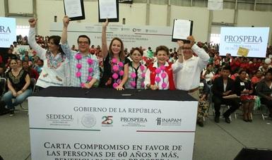 Entrega de tarjetas INAPAM y acciones por la Inclusión PROSPERA