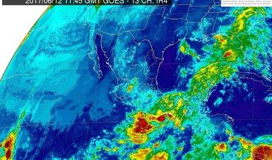 Se pronostican tormentas intensas para Puebla, Oaxaca, Chiapas, Tabasco y Veracruz