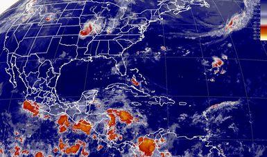 Tormentas intensas con actividad eléctrica y viento superior a 50 km/h se prevé para Guerrero, Oaxaca y Chiapas