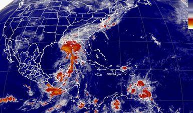 Tormentas de intensas a fuertes se prevén en la Península de Yucatán, el sur y el sureste de México