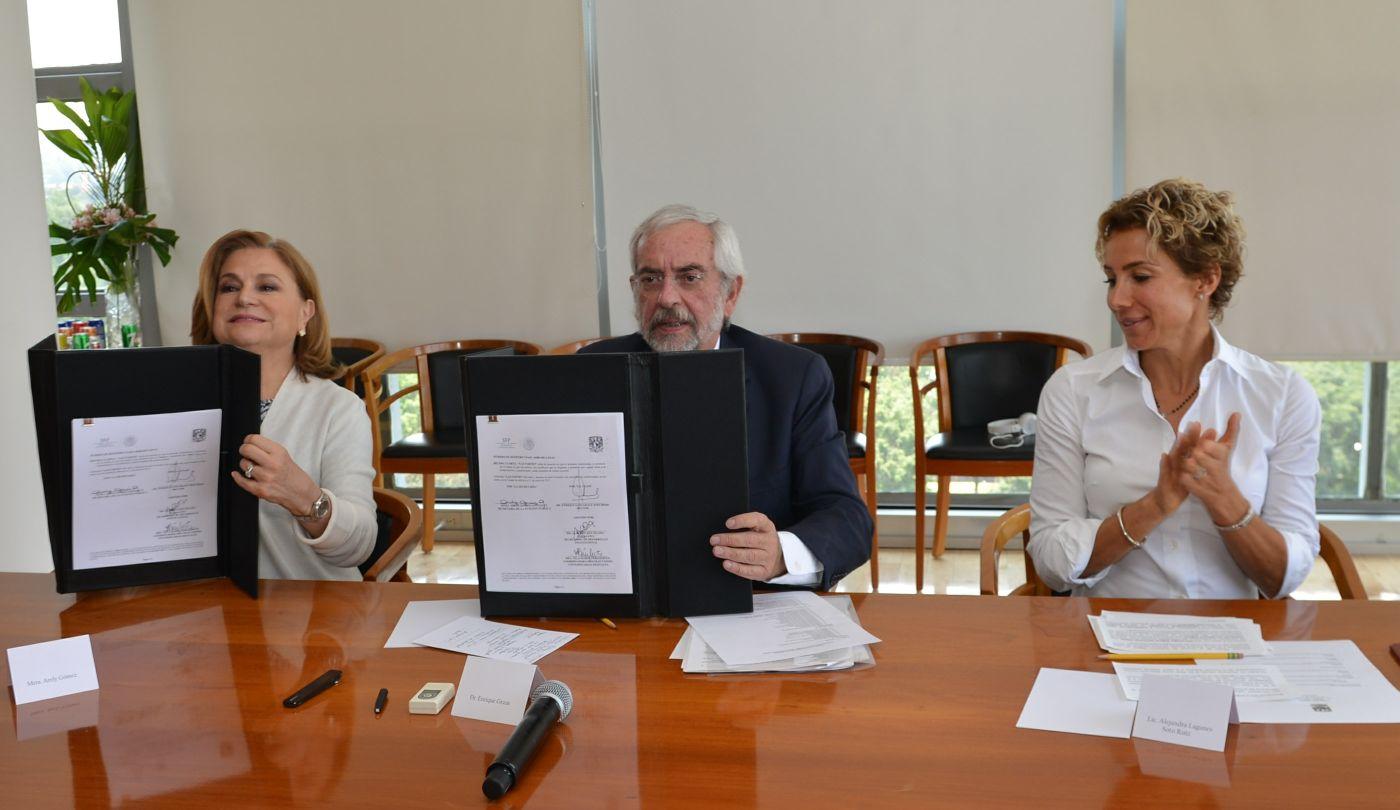 La secretar a de la funci n p blica y la unam firman for Fuera de convenio 2017