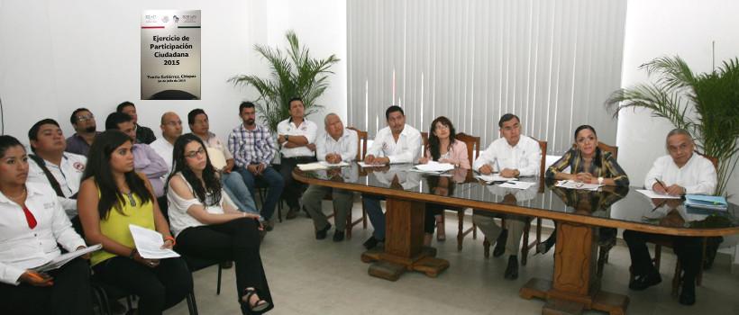 En la foto, asistentes a la reunión de inicio de las Jornadas de Participación Ciudadana en Materia de Transparencia y Vivienda, que se llevó a cabo en Tuxtla Gutiérrez Chiapas, organizadas por el FONHAPO.