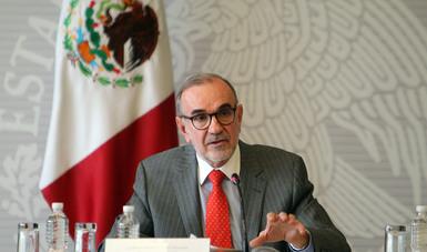 Subsecretario para América del Norte, Carlos Manuel Sada Solana en conferencia de prensa
