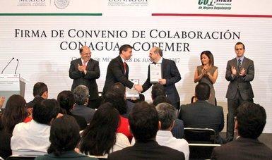 Firman CONAGUA y COFEMER convenio para simplificar y mejorar trámites a usuarios de aguas nacionales