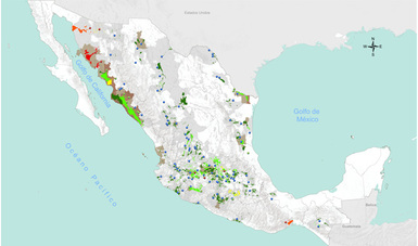 Mapa de vulnerabilidad en áreas agrícolas