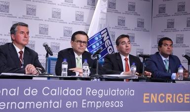 SE, COFEMER e INEGI presentan resultados sobre la percepción de las empresas respecto a los trámites y regulaciones