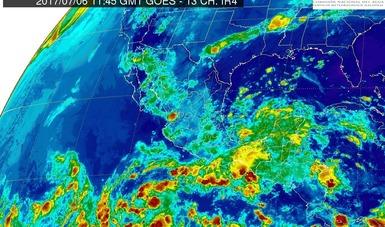 Para Veracruz y Oaxaca se pronostican tormentas intensas, actividad eléctrica y granizadas.