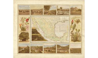 Carta agrícola de México mostrando los principales cultivos