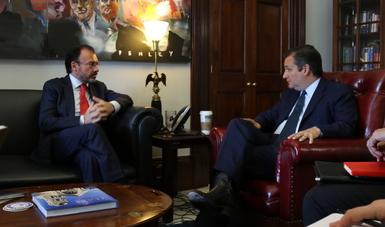 Concluyen reuniones del Canciller Videgaray con legisladores de ambas Cámaras y Partidos en Washington, D.C.