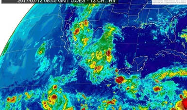 Se prevén tormentas muy fuertes en el norte, el occidente, el centro y el sur de México.