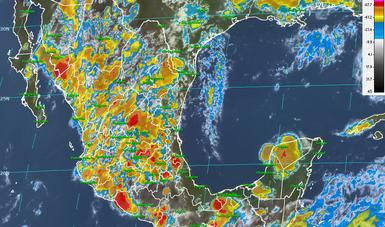 En el norte, el occidente, el centro y el sur de México continúa el pronóstico de tormentas muy fuertes.