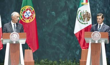 """""""Vale la pena destacar que, de la inversión extranjera directa de Portugal registrada en nuestro país, desde 1999, prácticamente una tercera parte de toda esa inversión se ha dado en los últimos cuatro años"""": EPN"""