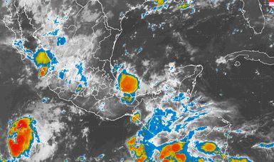 Se prevén tormentas muy fuertes en regiones del occidente, el sur y el sureste de México.