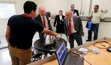 El pasado 13 de julio del 2017, el Centro Nacional de Metrología (CENAM) recibió la visita de la Agencia Espacial Mexicana