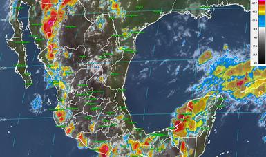 Para las próximas horas se prevén rachas de viento de 50 a 75 km/h con posibles tolvaneras en el noroeste y el norte de México.