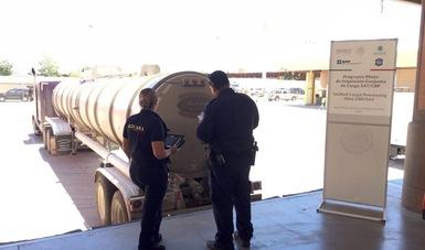 México y Estados Unidos inician inspección conjunta a mercancías de difícil identificación