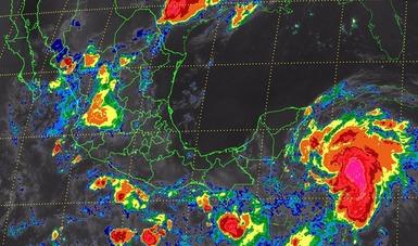 Se pronostican, para las próximas horas, tormentas intensas en Oaxaca, la Península de Yucatán y el sureste de México