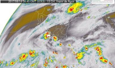 Tormentas intensas se prevén hoy en Chiapas y muy fuertes en Sinaloa, Nayarit, Tabasco y Oaxaca