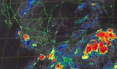 Se prevén hoy tormentas muy fuertes en Chihuahua, Jalisco, Campeche, Quintana Roo, el oriente y el sur de México