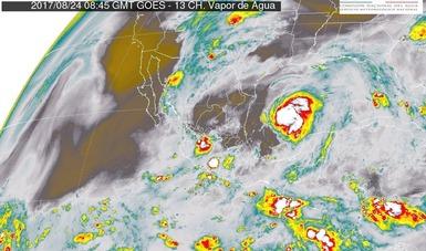 Durante las próximas horas se prevén tormentas intensas en zonas de Tamaulipas, Nayarit y Jalisco