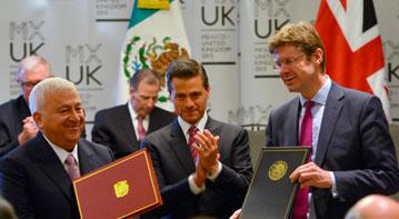 Firma de Acuerdos México - Reino Unido