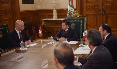 El Presidente Peña Nieto y el Consejero Alain Berset hicieron hincapié en que la solidez de la relación bilateral se basa en valores compartidos.