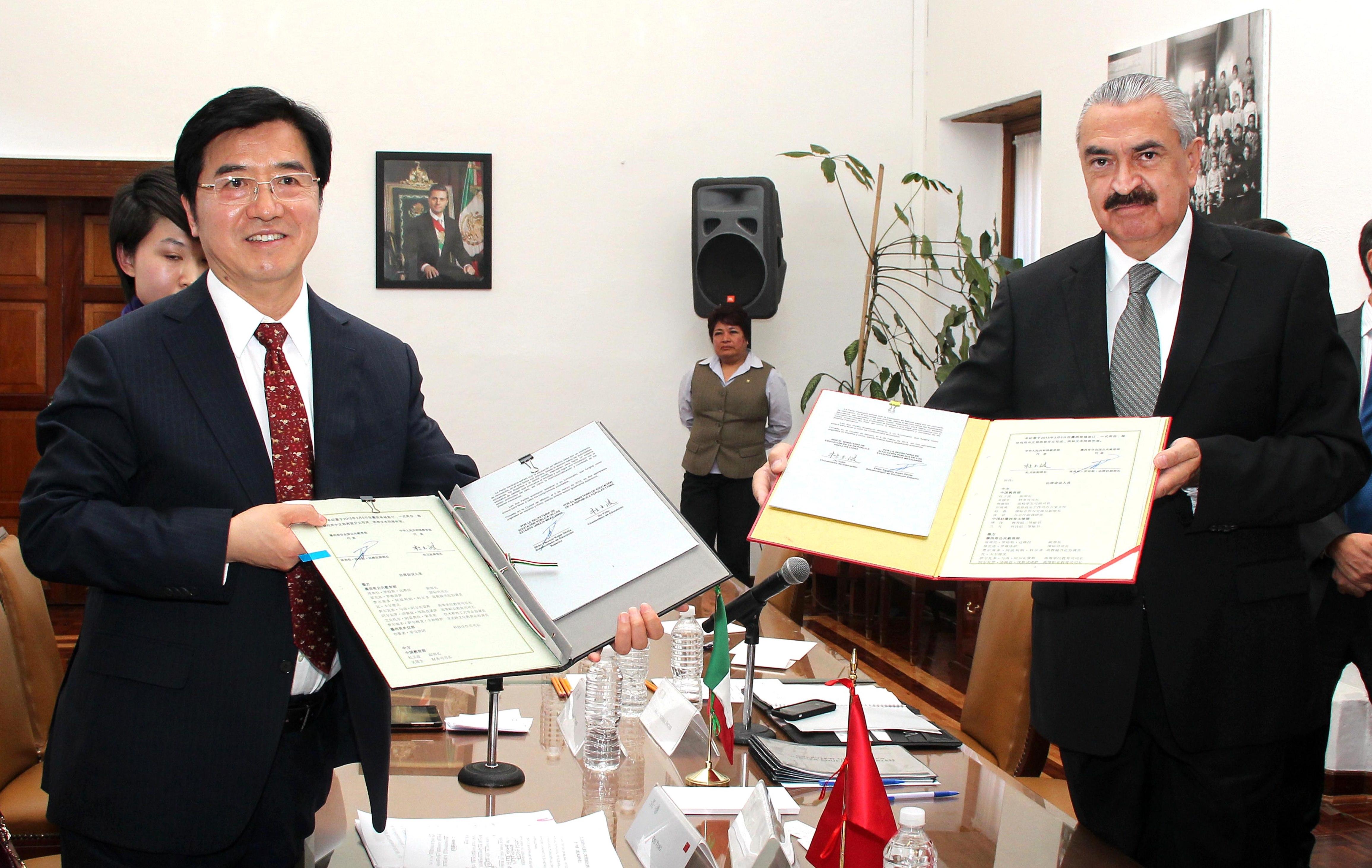 Reunión del subsecretario de Educación Superior con el viceministro de Educación de la República Popular China