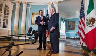 El Secretario de Relaciones Exteriores, Luis Videgaray, se reúne con el Secretario de Estado de Estados Unidos, Rex Tillerson