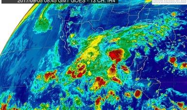 Tormentas intensas se pronostican hoy para Tamaulipas, San Luis Potosí, Hidalgo, Puebla, Veracruz, Oaxaca y Chiapas