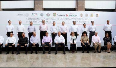 En la ceremonia de inauguración celebrada en el Palacio de Gobierno de Saltillo, Coahuila, y en representación del Comisionado Nacional de Seguridad, Renato Sales Heredia.