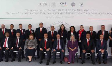 El Comisionado Nacional de Seguridad, Lic. Renato Sales Heredia, puso en marcha la Unidad de Derechos Humanos del Órgano Administrativo Desconcentrado Prevención y Readaptación Social.