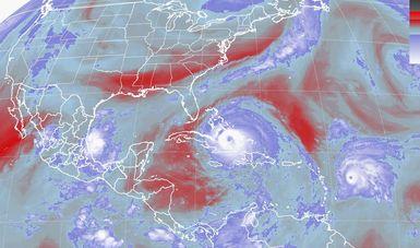Katia alcanzó la categoría de huracán 2.