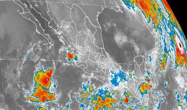 En las próximas horas se prevén tormentas intensas en Guerrero, Oaxaca, Chiapas y Tabasco