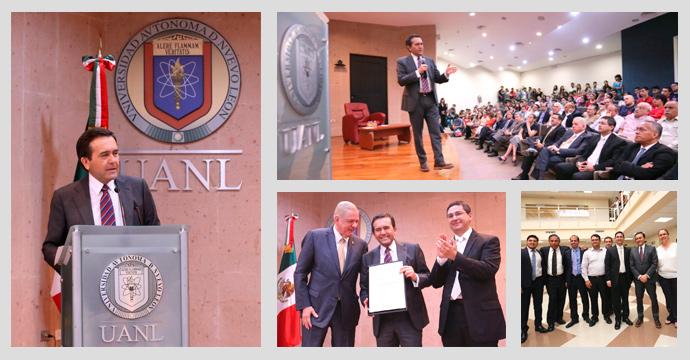 Participa el Secretario Ildefonso Guajardo en la inauguración de cursos de la Facultad de Economía de la UANL