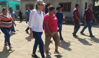 La Coordinadora Nacional Paula Hernández Olmos en recorrido por el sur de Chiapas
