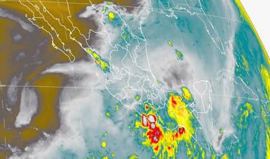 Hoy se prevén tormentas intensas en Guerrero, Oaxaca y Chiapas.