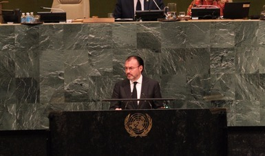 Remarks of Foreign Secretary Luis Videgaray at the 72nd Session of the UN General Assembly