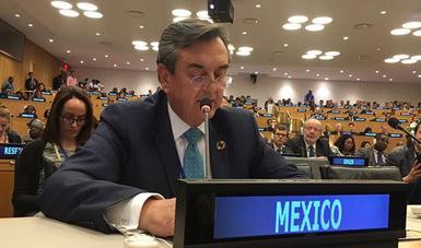 México reiteró su compromiso con la comunidad internacional para alcanzar las metas de la Agenda 2030.