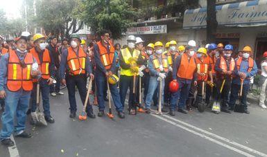 Trabajadores de la Conaliteg conforman brigada