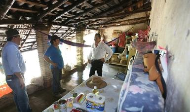 Srio. Miranda en recorrido por zonas afectadas de Chiapas