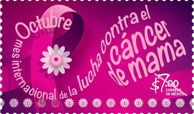 Secretaría de salud, SEPOMEX y FUCAM A. C. cancelan estampilla en apoyo al combate del cáncer de mama