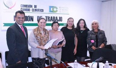 Presentación de evaluaciones de AT-CC y PECC a la Comisión de Cambio Climático del Congreso de la Unión