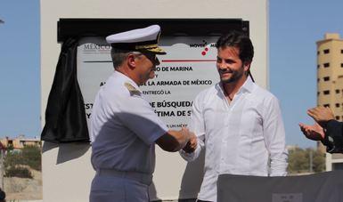 Con la develación de la placa inaugural de la  ENSAR se fortalece el Sistema Nacional de Búsqueda y Rescate del gobierno de la República.