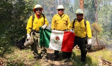 Participan combatientes mexicanos en intercambio técnico con Nuevo México