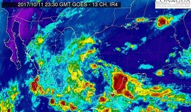 Se prevén para esta noche tormentas torrenciales en Hidalgo, Puebla y Veracruz.