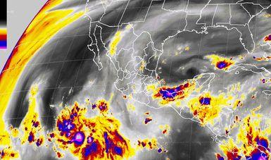 Para Veracruz, Tabasco, Oaxaca y Chiapas se pronostican tormentas muy fuertes