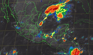 Para Puebla, Veracruz, Oaxaca, Chiapas y Tabasco se pronostican tormentas intensas