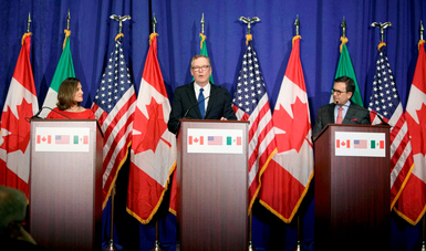Declaración trilateral sobre la Conclusión de la Cuarta Ronda de Negociaciones del TLCAN