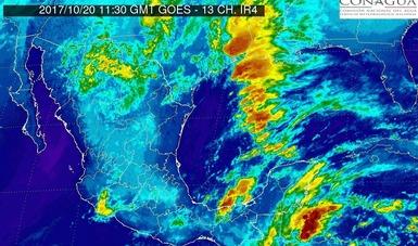 Hoy se prevén tormentas intensas en Tabasco y Chiapas.